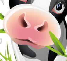 Cute cow with pretty eyes Sticker