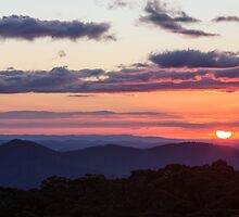 Sunset from Mollisons Plain by Travis Easton