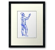 woman sketch Framed Print