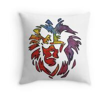 Jim and the Povolos Lion Throw Pillow