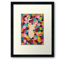 Bubblegum Reindeer Framed Print