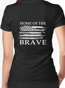 Home Of The Brave Women's Fitted V-Neck T-Shirt