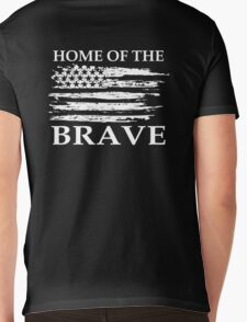 Home Of The Brave Mens V-Neck T-Shirt