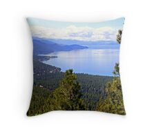 """Lake Tahoe's East Shore"" Throw Pillow"