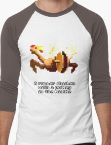 Monkey Island - Rubber chicken with a pulley in the middle Men's Baseball ¾ T-Shirt