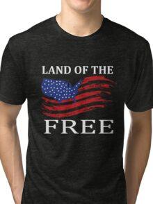 Land Of Free Tri-blend T-Shirt