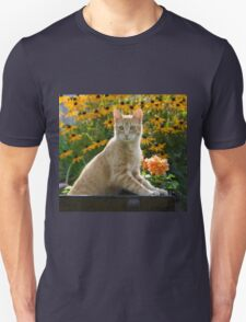 Red tabby cat watching attentively Unisex T-Shirt