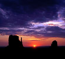 Monument Valley and Sun by Mike Norton