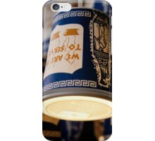 We Are Happy to Serve You. Whimsical Coffee Cups iPhone Case/Skin