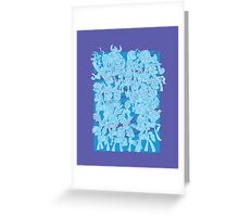 mlp - Rainbow dash blue Greeting Card