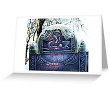Frosty Gravestone Greeting Card