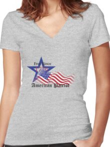 Free Since 1776 – American Patriot Women's Fitted V-Neck T-Shirt