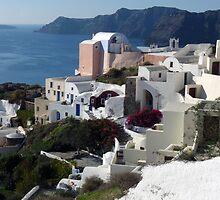 Homes in Oia, Santorini Greece by Lucinda Walter