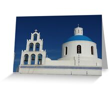 Bells and Blue Dome Greeting Card