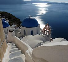 The Beautiful Santorini, Greece by Lucinda Walter