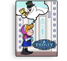 Do You Want to Build a MAGIC Snowman? Canvas Print