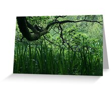 oak tree and reeds Greeting Card