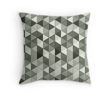 Grayscale triangle galore Throw Pillow