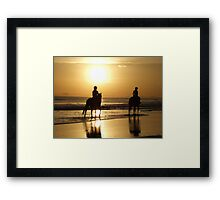 Sunset Riders Framed Print