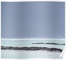 Grey sky, Blue sea Poster