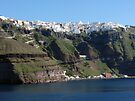 Fira Village of Santorini Greece by Lucinda Walter