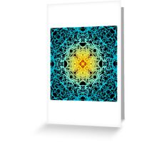 """""""Spirit of India: Fleur"""": sun and water Greeting Card"""