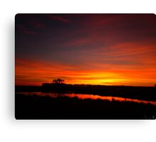 Slow Fade To Night Canvas Print