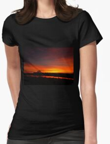 Slow Fade To Night Womens Fitted T-Shirt