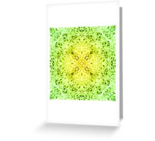 """""""Spirit of India: Fleur-Web"""" in grass green and yellow Greeting Card"""