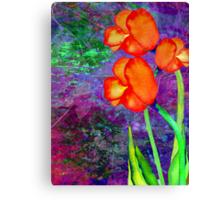 Tulipes Orange Canvas Print