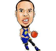 Stephen Curry | Golden State Warriors | Cartoon by BLVVCK