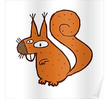 Cute cartoon squirrel Poster