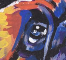 Brussels griffon Bright colorful pop dog art Sticker
