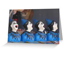 Four Clowns Greeting Card
