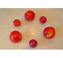 Apples and plums Photographic Print