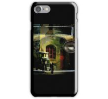 Antique car and house iPhone Case/Skin