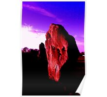 Standing Stone at Dusk Poster