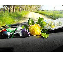 Sunday drive gathering flowers Photographic Print