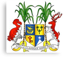 Coat of Arms of Mauritius Canvas Print