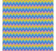 Retro Chevron Zig Zag Pattern Photographic Print