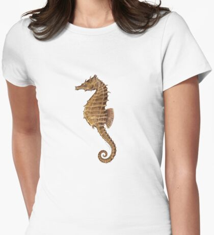 Northern Seahorse (Hippocampus hudsonius)  Womens Fitted T-Shirt