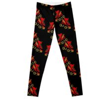 Cool golden roller skates Roller Derby Leggings