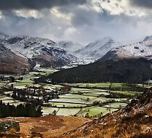 Storm Over the Head of Borrowdale, Cumbria by David Lewins
