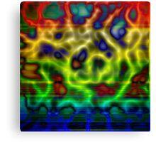 Rainbow Plasma Canvas Print