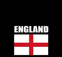 England, English Flag, Flag of St George, Pure & simple, on Black by TOM HILL - Designer