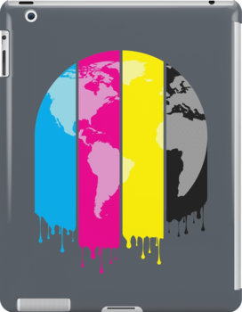 4 Colors Paint Our World by ChunkyDesign