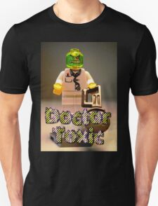 Doctor Toxic with Chainsaw, Custom Minifigure Unisex T-Shirt