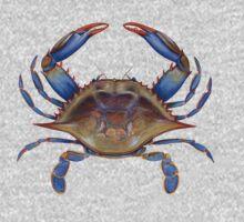 Blue Crab (Callinectus sapidus) One Piece - Long Sleeve