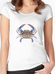 Blue Crab (Callinectus sapidus) Women's Fitted Scoop T-Shirt