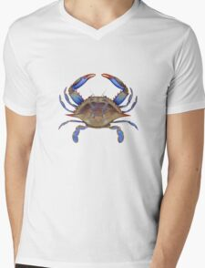 Blue Crab (Callinectus sapidus) Mens V-Neck T-Shirt